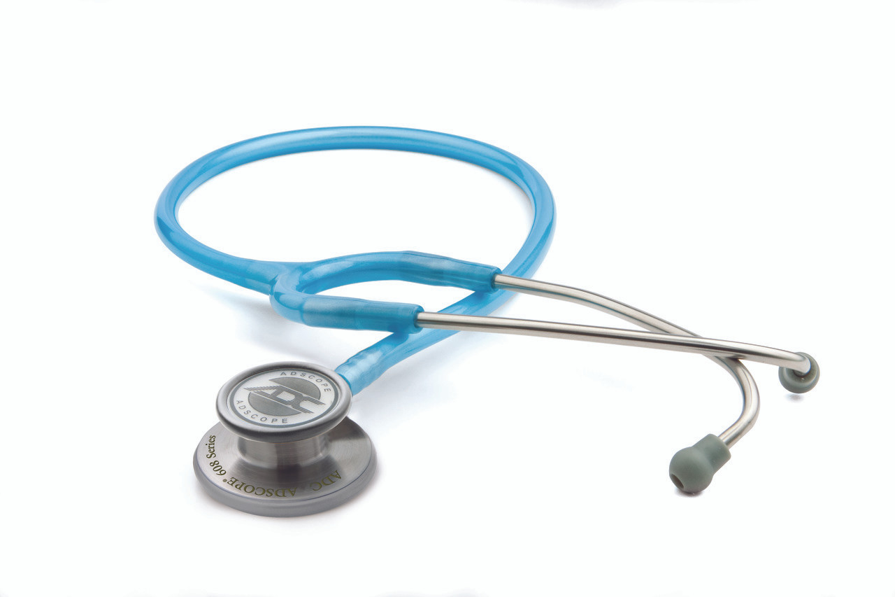 ADC Adscope 608 Convertible Clinician Stethoscope, Metallic Ceil Blue, 608MCB