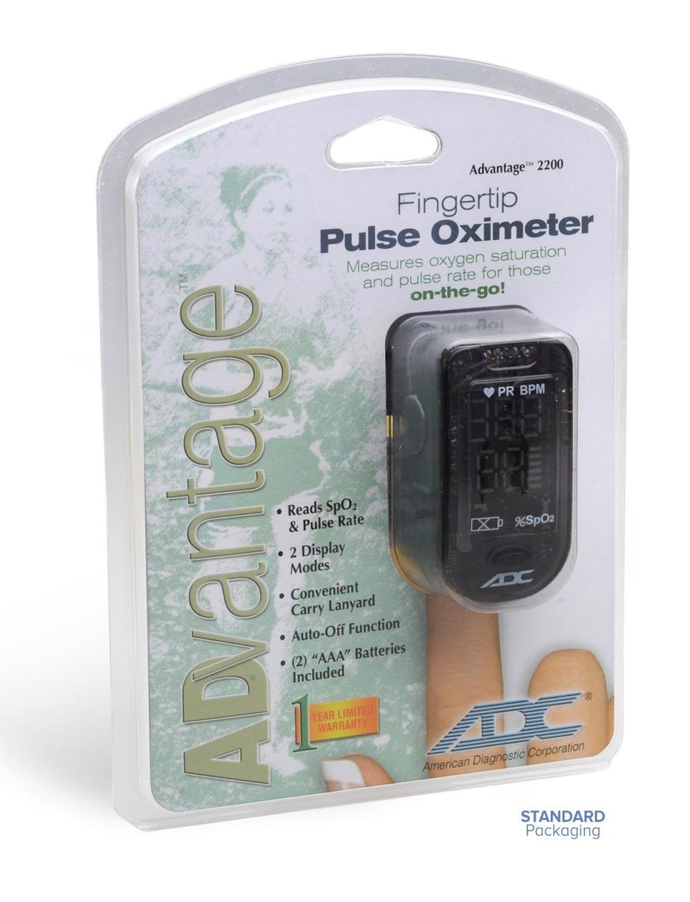 ADC 2200 DIAGNOSTIX Digital Fingertip Pulse Oximeter