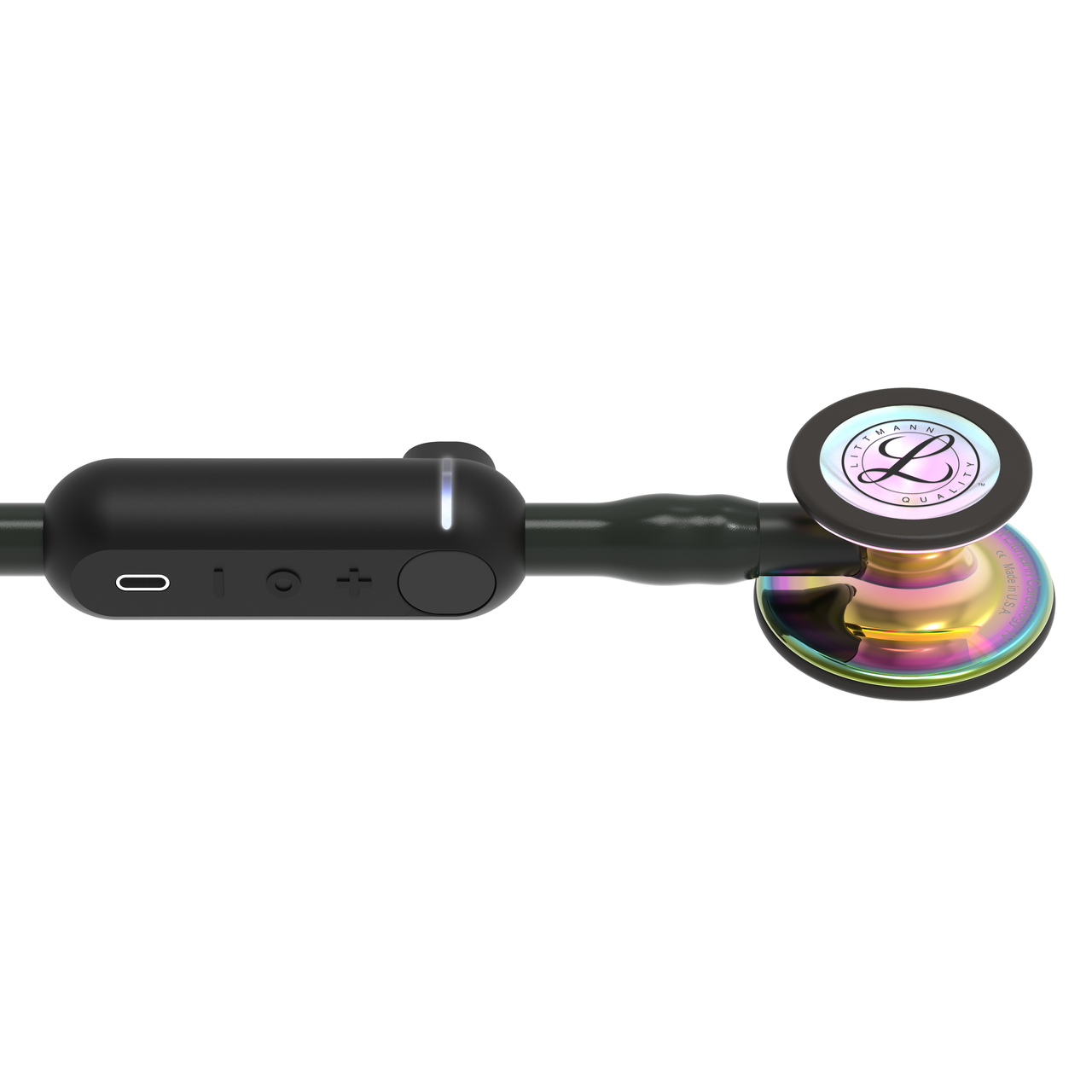 3M Littmann CORE Digital Stethoscope, Rainbow Black, 8570