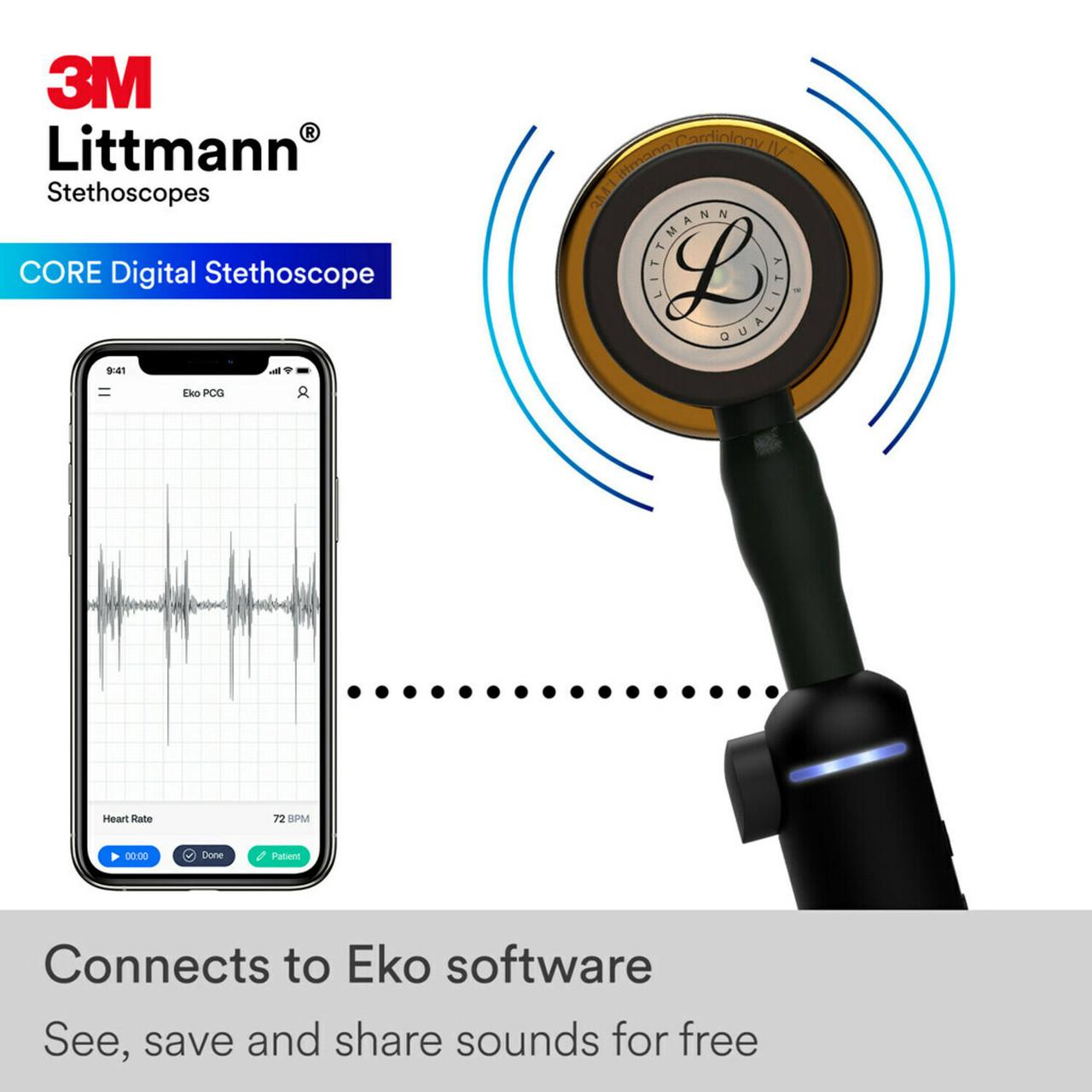 3M Littmann CORE Digital Stethoscope, HP Copper, 8870