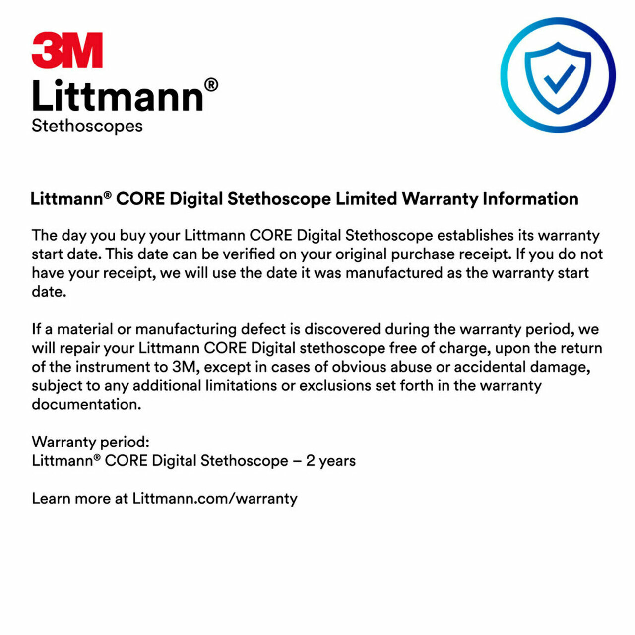 3M Littmann CORE Digital Stethoscope, Mirror, 8890