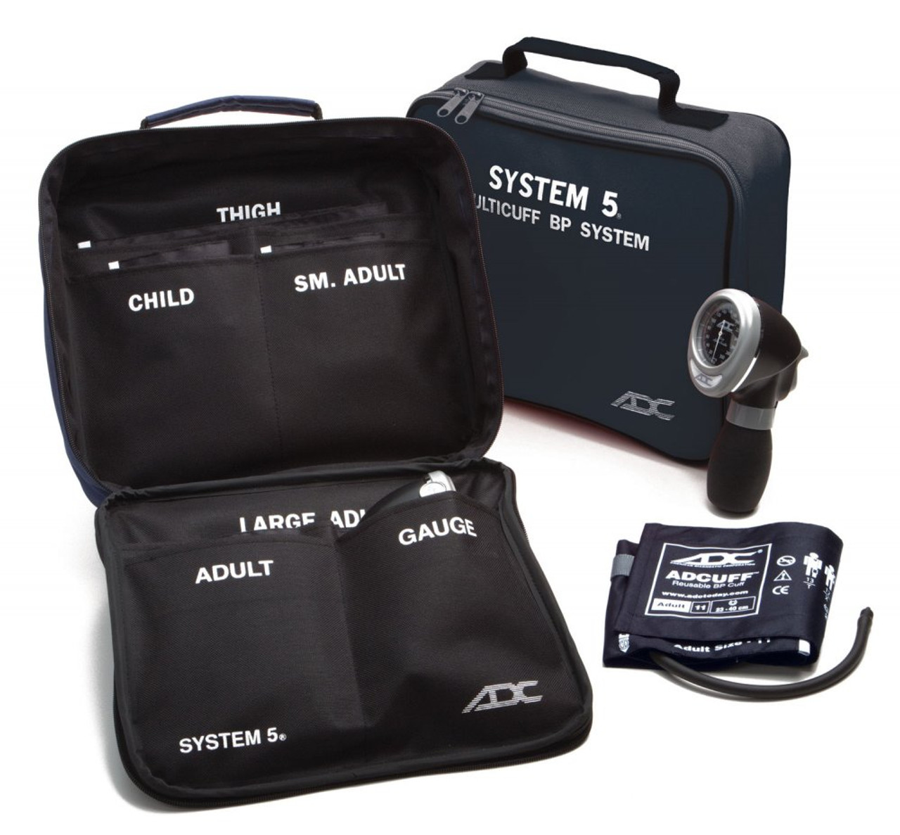 ADC 740 System 5™ Portable 5 Cuff Sphyg - Navy