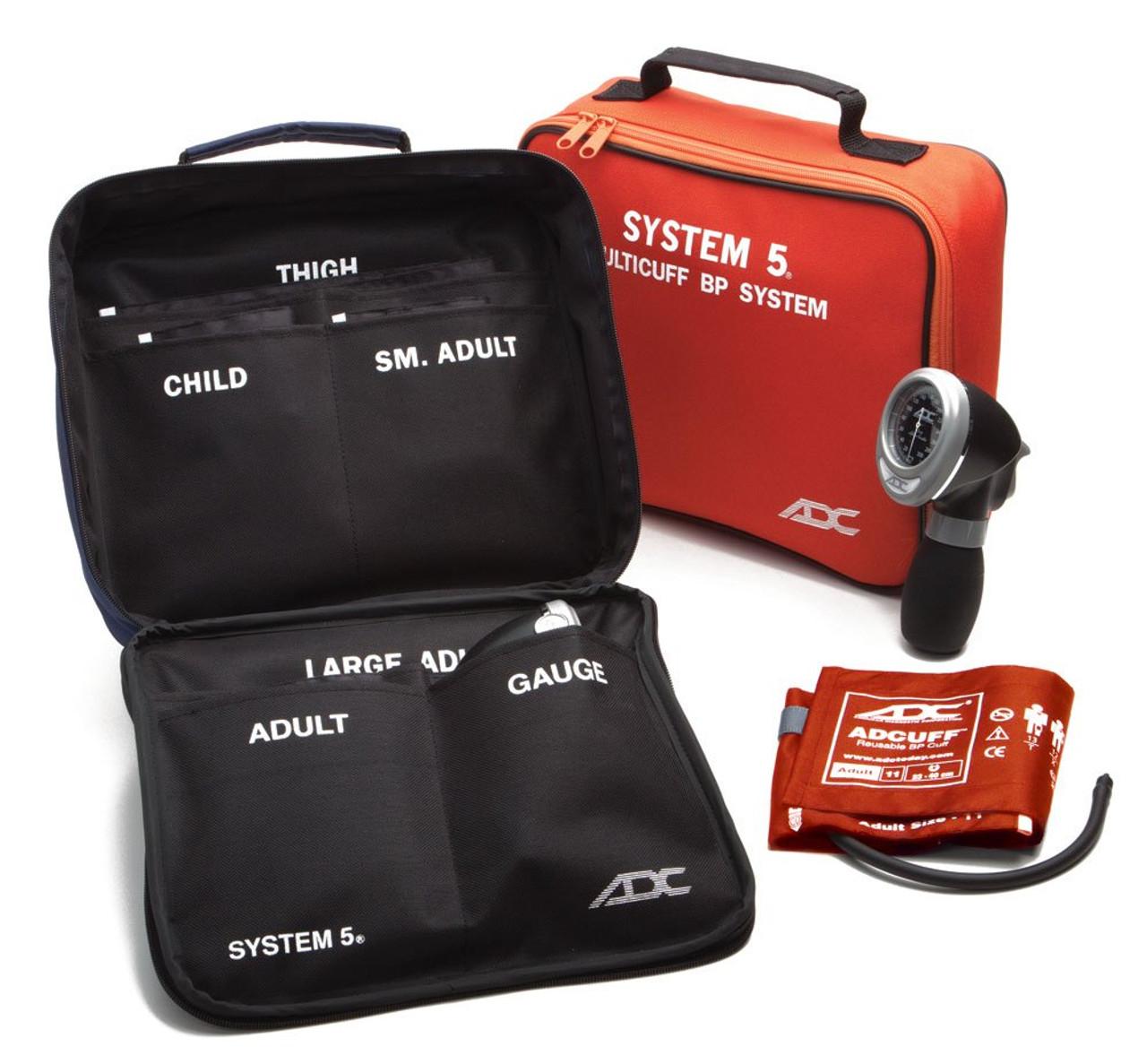 ADC 740 System 5™ Portable 5 Cuff Sphyg - Orange