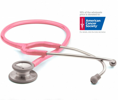 ADC 603 General Diagnostic Stethoscope, Breast Cancer Awareness Metallic Pink, 603PBCA