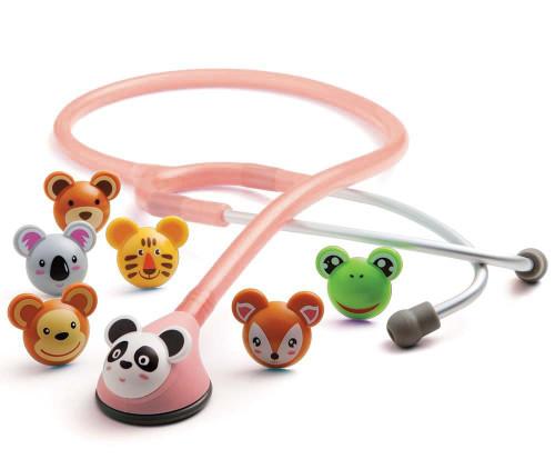 ADC 618 ADSCOPE Adimal Pediatric Stethoscope, Pink