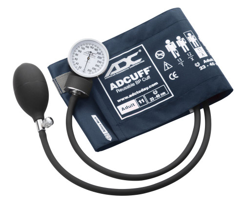 ADC Prosphyg 760 Pocket Aneroid Sphygmomanometer, Adult Cuff in Navy