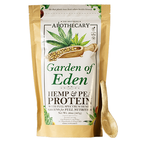 Brothers Apothecary | Garden of Eden Superfood | CBD. Protein Powder
