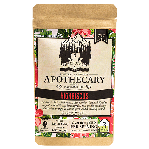 Brothers Apothecary | Highbiscus | Hemp CBD Tea | No. 5