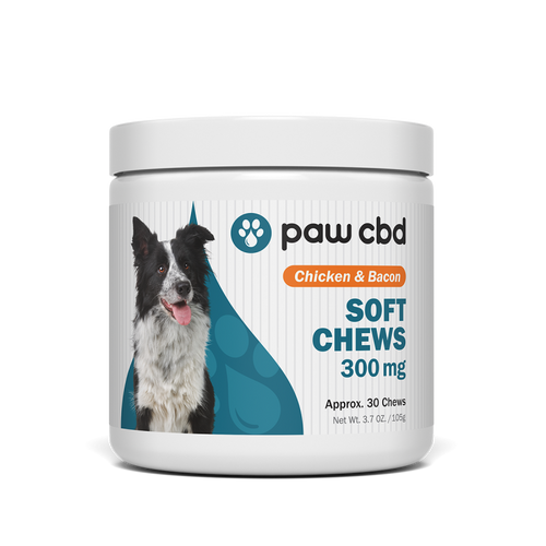 Paw CBD | Dog Soft Chews | Chicken & Bacon | 30 ct