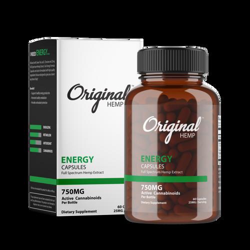 Original Hemp | Energy | Capsules | 25mg