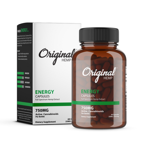 Original Hemp | Energy Capsules | 60ct | 750mg