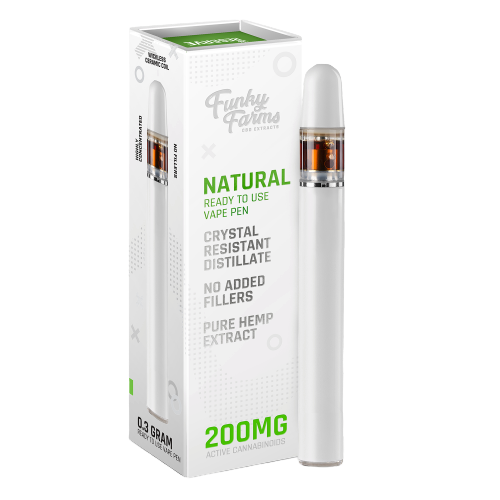 Funky Farms Natural CRD Disposable Vape Pen 0.3mL (200mg) | Natural
