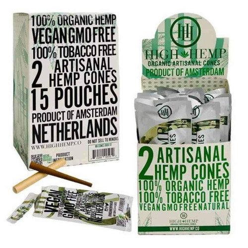 High Hemp | Organic Cones | 2/pouch