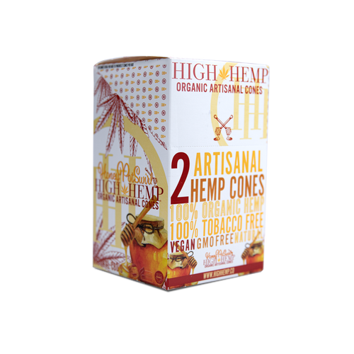 High Hemp | Organic Cones | Honey Pot Swirl | 2/pouch