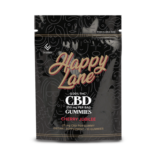 Happy Lane | THC Free | CBD Chews |  Cherry Jubilee | 10ct