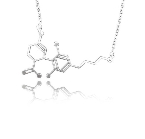 CBD Molecule Necklace | silver