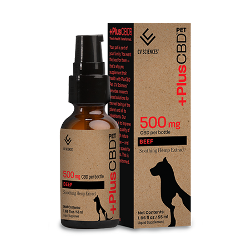 +PlusCBD | Pet | Tincture | 500mg | Beef Flavor