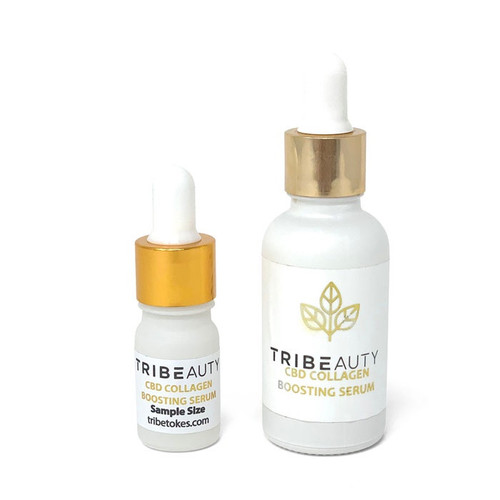 Tribe Beauty | Collagen Boosting Serum 5-in-1 : Firms, Tones, Plumps, Hydrates & Protects | 1oz & Travel Size