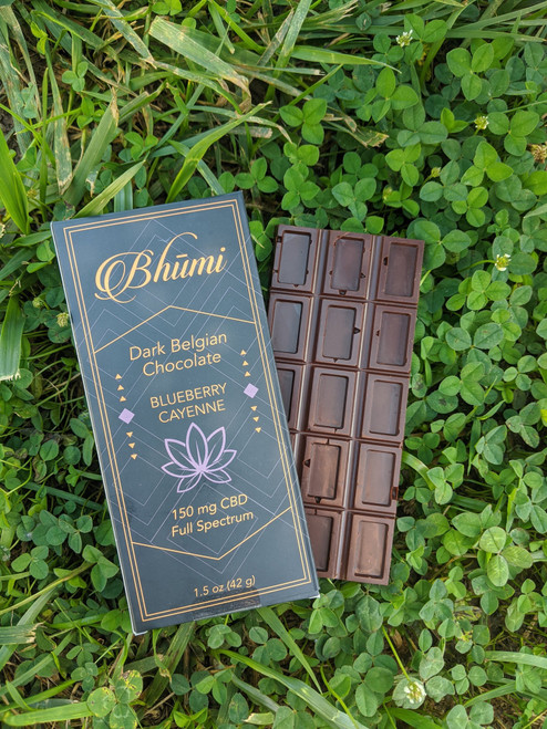Bhumi | Blueberry Cayenne Chocolate Bar