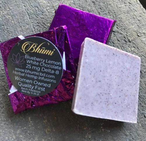 Bhumi | Delta 8 | Blueberry Lemon White Chocolate Bite