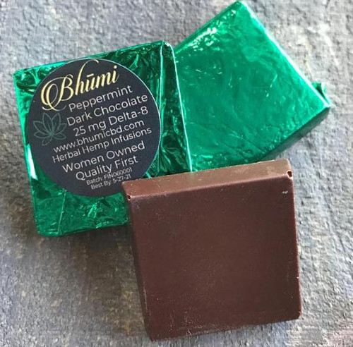 Bhumi | Delta 8 | Peppermint Dark Chocolate Bite