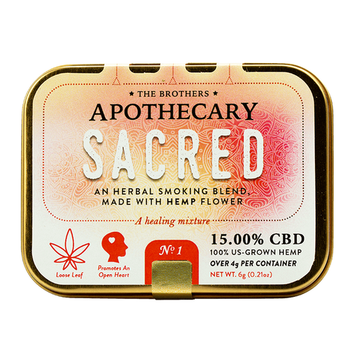 Brother Apothecary | Herbal Hemp CBD Smoking Blend | Sacred | 4g
