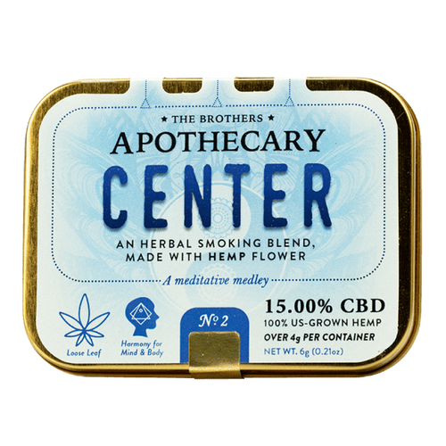 Brother Apothecary | Herbal Hemp CBD Smoking Blend | Center | 4g