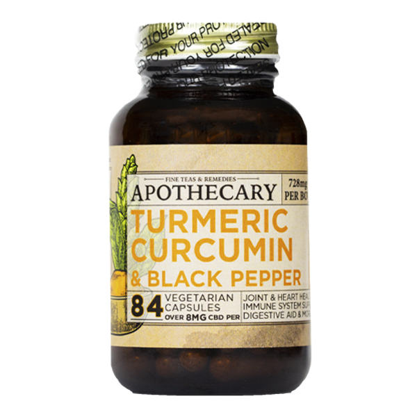 Brothers Apothecary | Immunity Support | CBD + Turmeric Capsules