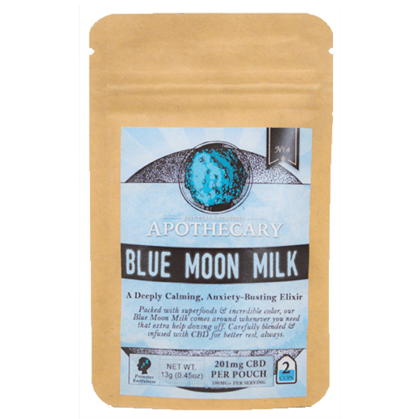 Packed with superfoods & incredible color, Blue Moon Milk is here to help whenever you need that push to doze off.* Delicious, vegan, gluten-free, and handmade & packaged in 100% biodegradable bags, our Blue Moon Milk is ethically-sourced & crafted with intention, paired with the finest, safe & legal hemp-derived CBD.