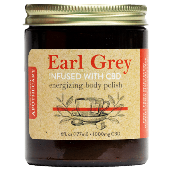Brothers Apothecary Energizing CBD Sugar Scrub | Earl Grey, Kaolin Clay & Cane Sugar CBD Scrub
