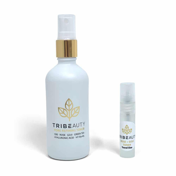 Tribe Beauty | CBD + Rose + Goji | Toner | 10oz & Travel Size