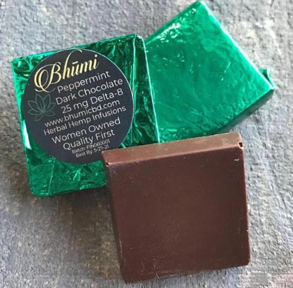 Bhumi | Delta 8 | Peppermint Dark Chocolate Bite