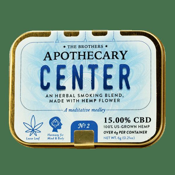 Brother Apothecary | Herbal Hemp CBD Smoking Blend | Center | 4g