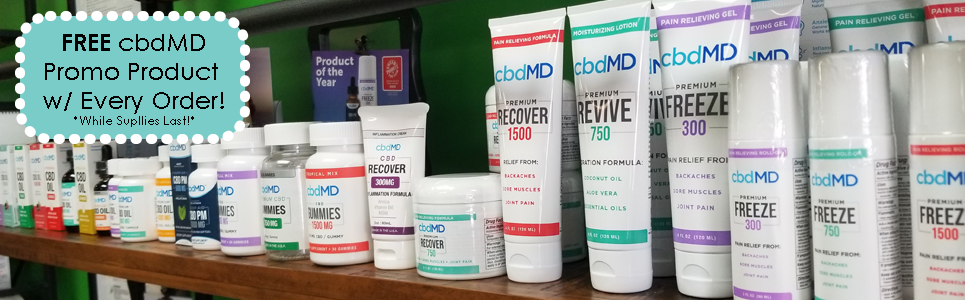 GetMeSomeGreen Apotecary - FREE cbdMD Promo Product with Every Order in the Month of July! *While Supplies Last!*