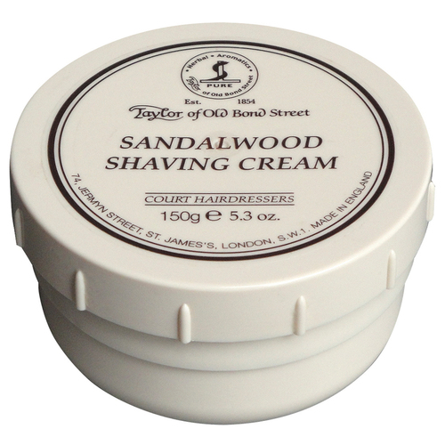Luxurious and masculine Sandalwood Shaving Cream which creates a uniquely smooth and creamy lather.