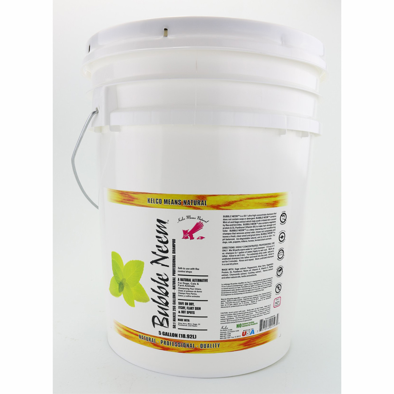 Kelco™ Bubble Neem Shampoo in 5 Gallon Size