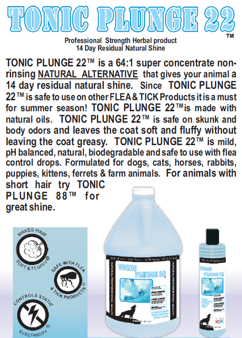 Tonic Plunge 22 Dip Quick Glance Info Sheet