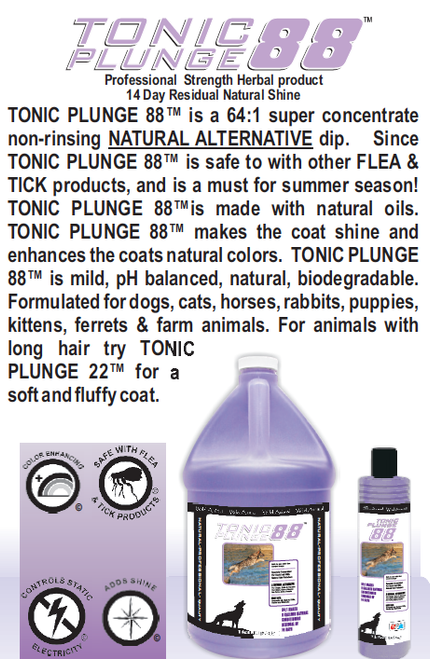 Tonic Plunge 88 Dip Quick Glance Info Sheet