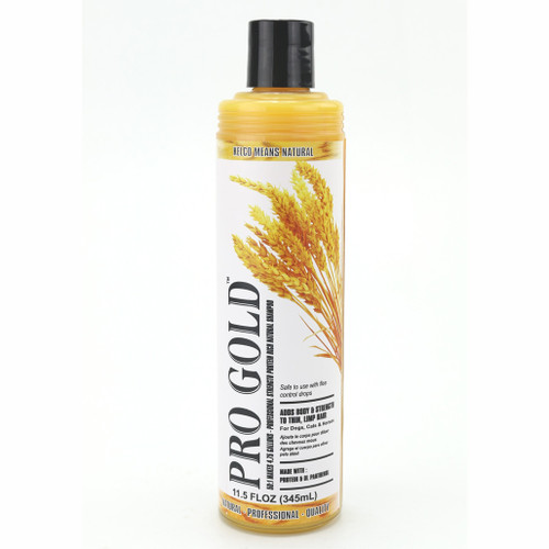 Kelco™ Pro Gold Shampoo in 11.7 oz., size.