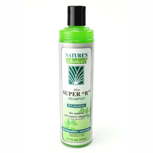 Aloe Super R Shampoo in 11.7 oz size.