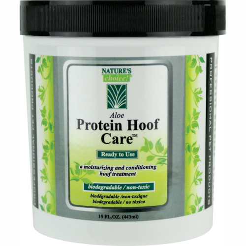 Nature's Choice! Aloe Protein Hoof Care in 15 oz container.