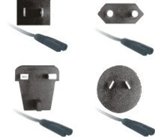 USA, AU, UK, and EU plug adaptors shown.