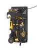 Black Metal Galvanneal Pegboard Power Tool Storage Kit for wall organization
