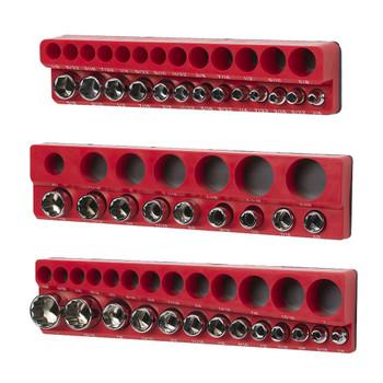 Magnetic SAE Standard Socket Holder Set