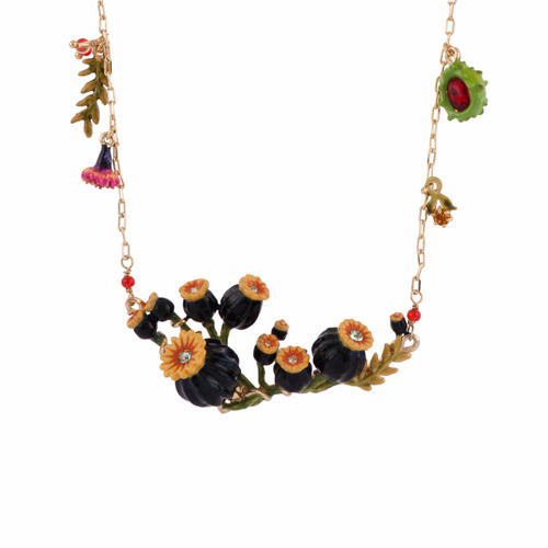 Poppies, Flower Bunches Necklace | AFCH3081