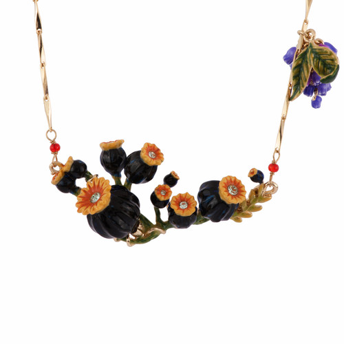 Poppies & Flower Bunch Necklace | AFCH3041