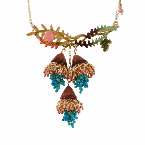 Branches & Blue Beads Bunches Necklace | AFCH3031