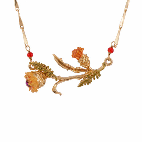 Gold Thistles Necklace | AFCH3071
