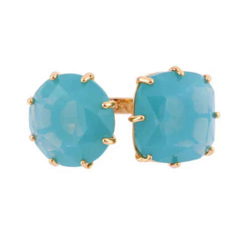 La Diamantine 2 Big Stones Frosted Blue Rings | AFLD611/21