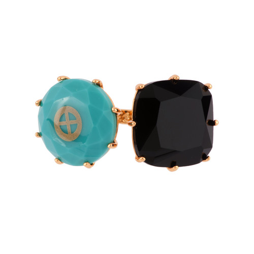 La Diamantine Speciale Earth Crystal Stone & White Opal Stone Rings | AFLDS611/11